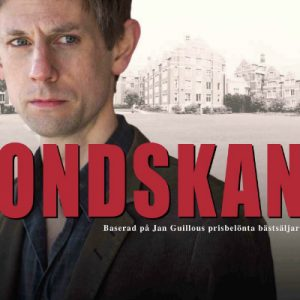 Affischbild Ondskan med Jesper Arin. Layout: Anna Sigurdsdotter