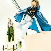 Vanja Godée & Jesper Arin / De trasiga superhjältarnas bok / Photo: Peter Lloyd